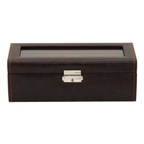 Uhrenbox für 4 Uhren braun cognac