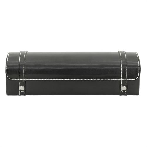Uhrentruhe schwarz Leder für 5 Uhren geeignet
