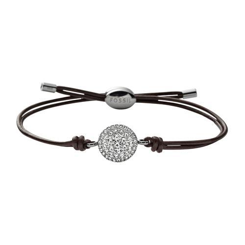 Damen Armband Vintage Glitz aus Leder, gravierbar