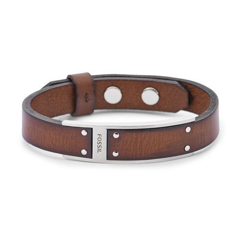 Herren Armband Modern Artisan aus braunem Leder