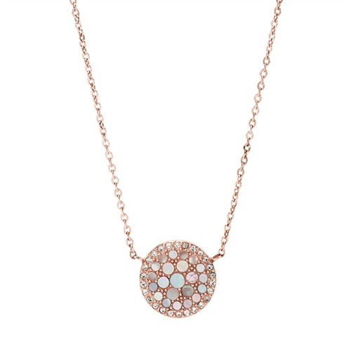 Fossil-Kette Pearl Disc Pendant JF01740791