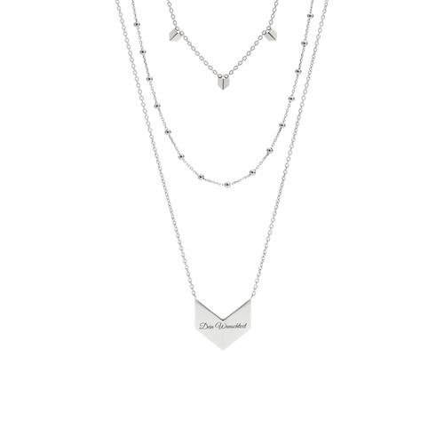 Elegante Damenkette Zirkonia