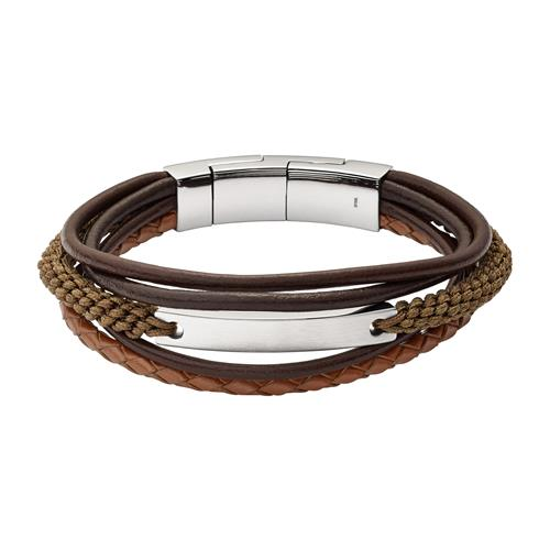 Gravierbares Herren Armband Vintage Casual mehrreihig