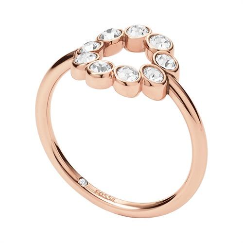 Damen Ring Vintage Glitz Bezel