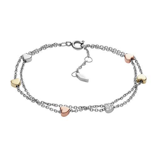 Armband Tri Tone Heart für Damen aus Edelstahl