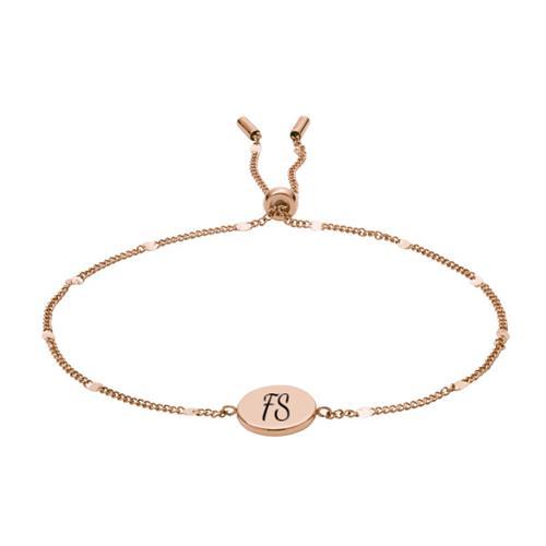Gravierbares Armband Disc für Damen aus Edelstahl rosé