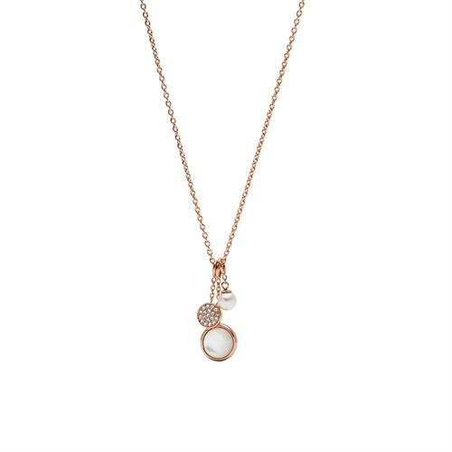 Halskette aus Edelstahl rosévergoldet