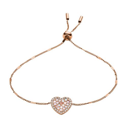Damen Armband Mosaic Heart Edelstahl rosé gravierbar