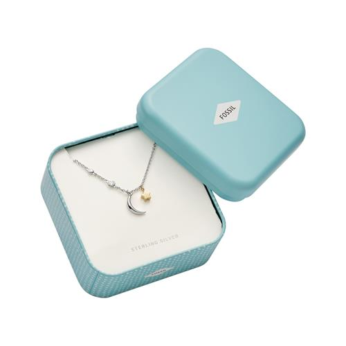 925 Silver Necklace Moon And Star For Ladies