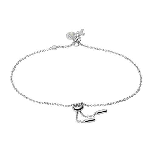 925er Silber Armband Kreuz für Damen, gravierbar