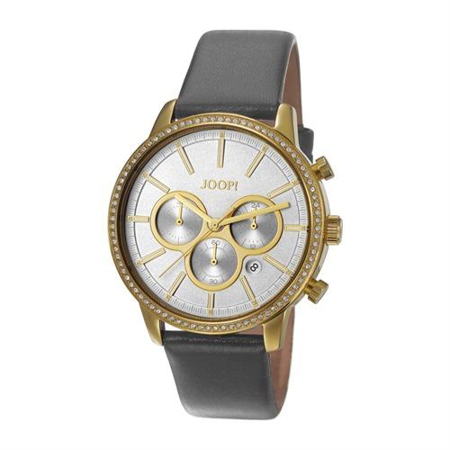 Damen-Chronograph Jackie grau gold