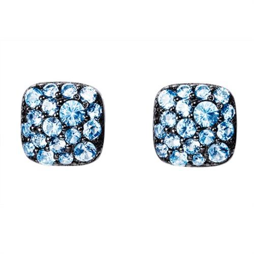 Ohrringe Silber mit blauen Steinen