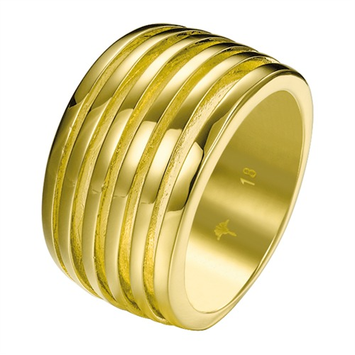 JP-Stripes Joop Ring vergoldet 18 Karat JPRG00001B