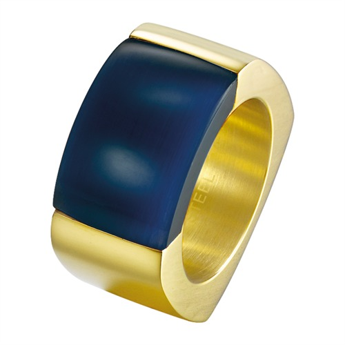 Fantastischer Ring Marvelous Joop gold blau JPRG10614C