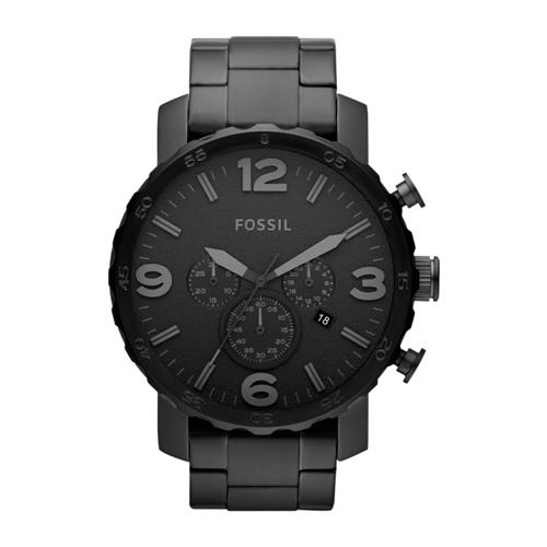 Schwarze Herren-Armbanduhr