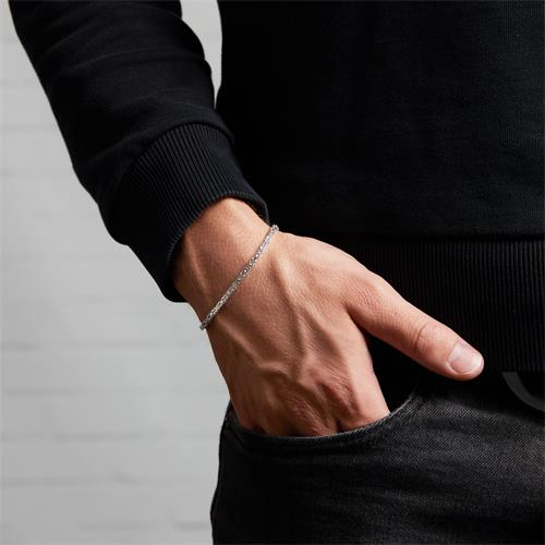 Sterling Silver Bracelet: King Bracelet Silver 2,5mm