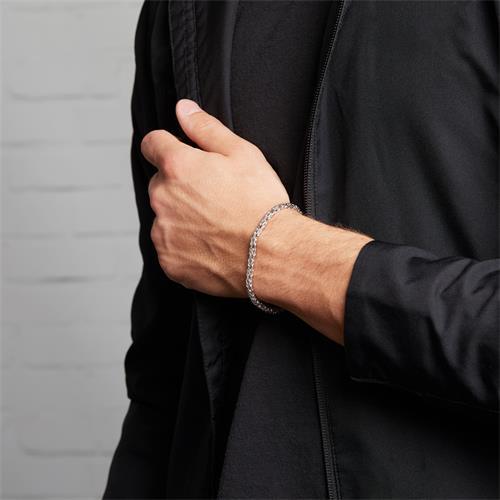 Herren Königsarmband aus Sterlingsilber, 3,0 mm