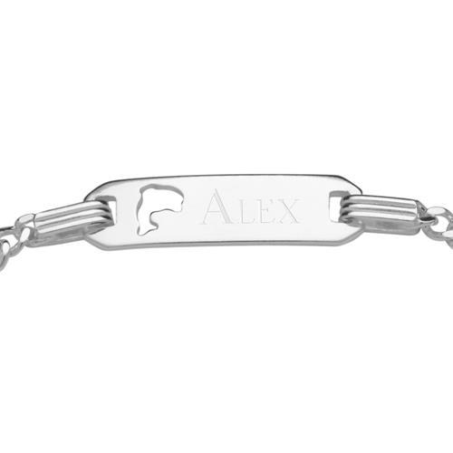 Armband für Kinder Silber gravierbar Delfin