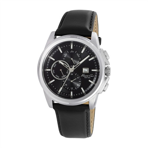 Herrenuhr multifunktional Kenneth Cole Leder KC10025919