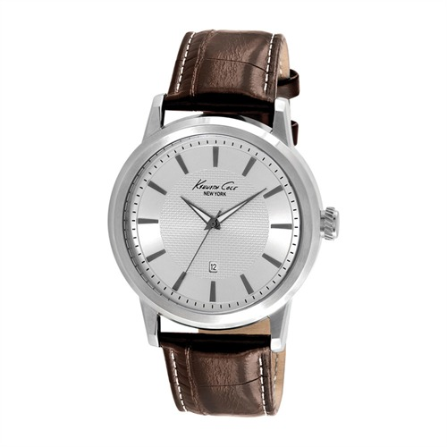 Classic-Herrenuhr Kenneth Cole Leder hellbraun KC1952
