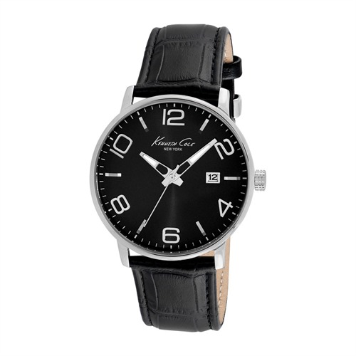 Kenneth-Cole-Uhr Dress Sport Edelstahl Leder KC8005