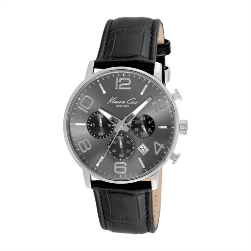 Herrenchronograph Kenneth Cole Leder schwarz KC8007