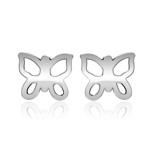 Filigrane 925 Silber Ohrstecker Schmetterlinge