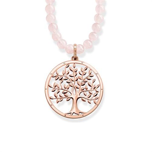 Kette Lebensbaum rosé