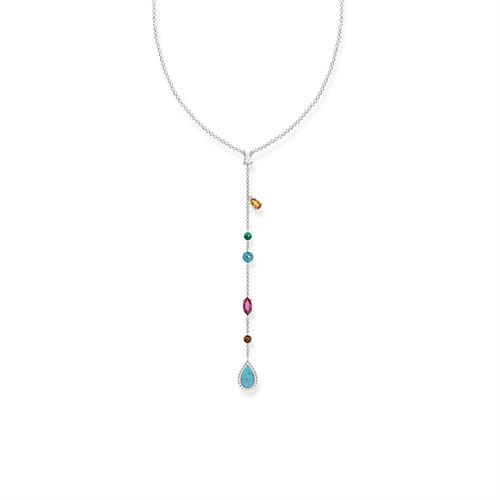 Y-Kette Riviera Colours 925er Silber