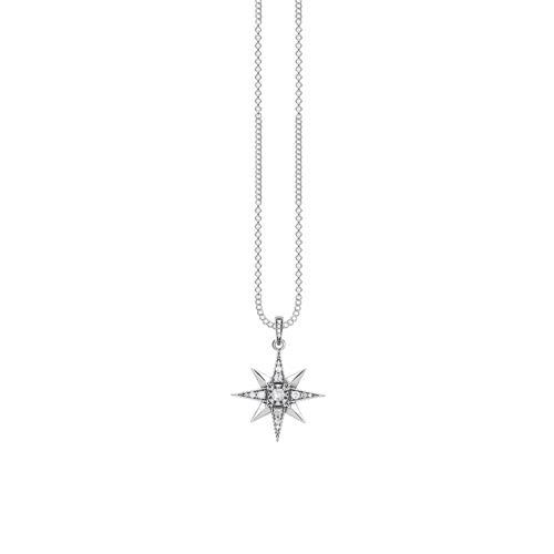 Kette Royalty Stern aus 925er Silber mit Zirkonia
