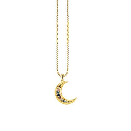 Kette Royalty Mond aus vergoldetem Sterlingsilber