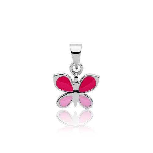 Kinderkette 925 Silber Schmetterling