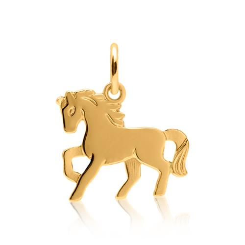 Goldkette für Kinder mit Anhänger Pferd