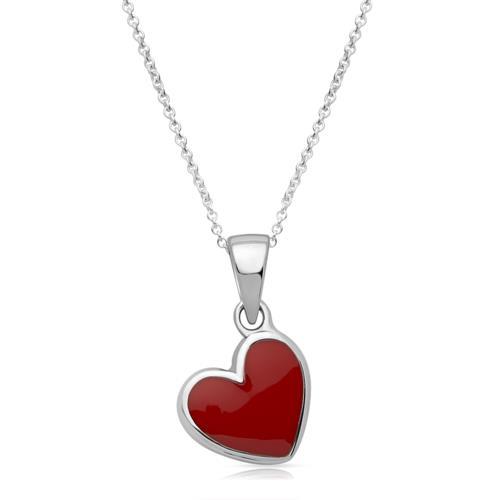 925er Silberkette Herzanhänger für Kinder