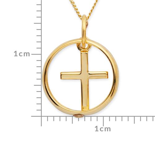 333er Gold Taufkette: Zirkonia Kreuz