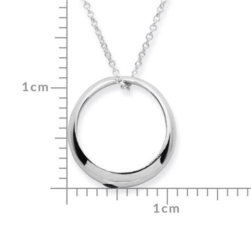 Taufring 925 Silber poliert mit Saphir