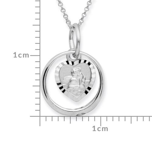 Silber Taufring 925 Engelsanhänger Zirkonia