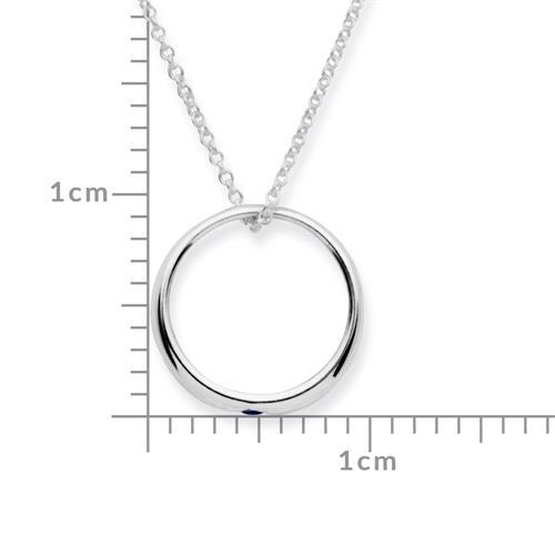 Taufkette 925 Silber mit Saphir