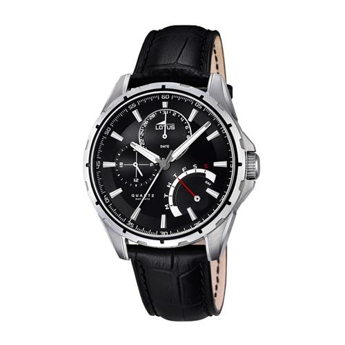 Schwarze Männer-Uhr Lotus Edelstahl L18208/2