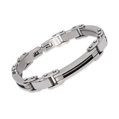 Edelstahl Armband Stahlseil Elemente 21cm