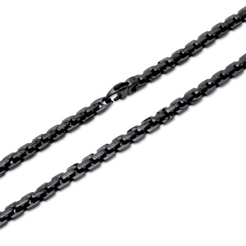 Edelstahl Kette schwarz Ionic Black Plating