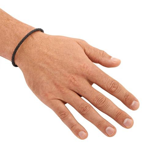Leder Armband 3,5 mm Edelstahlverschluss