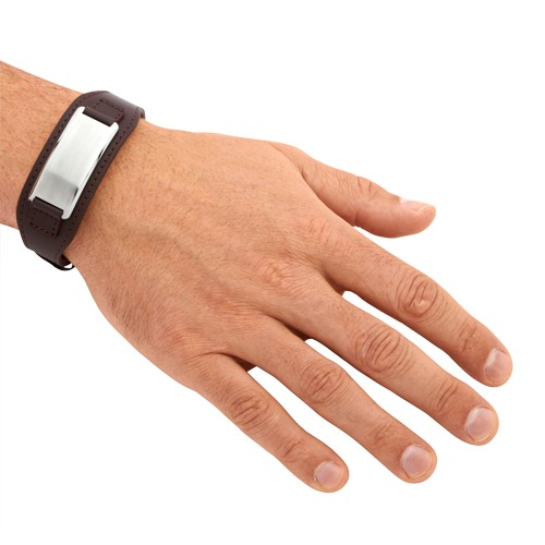 Braunes Leder Armband inkl. Lasergravur