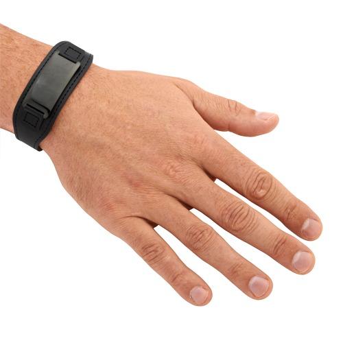 Schwarzes Leder Armband inkl. Lasergravur