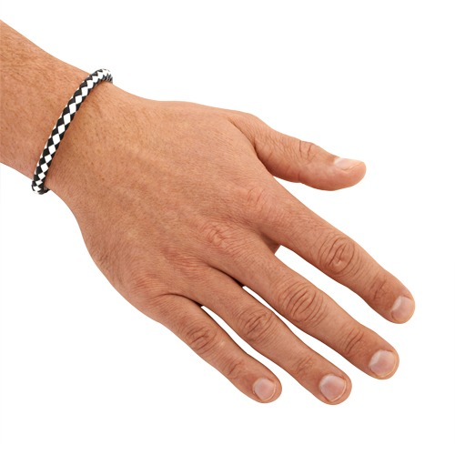 Leder Armband 6mm Edelstahlverschluss