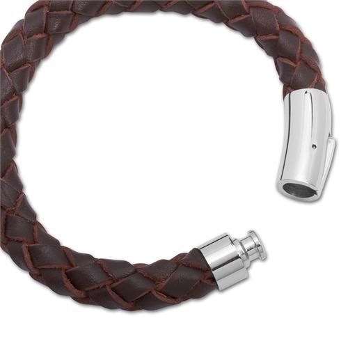 Armband Leder Edelstahlschnellverschluss braun
