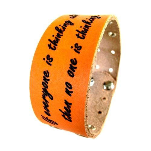 Armband Echtleder inklusive Laseraußengravur