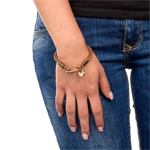 Bronzefarbenes Vintage-Armband aus Leder
