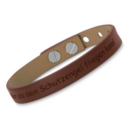 braunes leder armband verstellbar gravur m glich lb0373. Black Bedroom Furniture Sets. Home Design Ideas