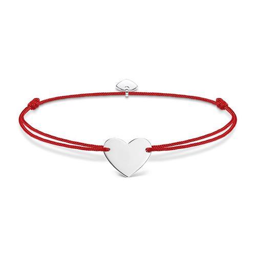 Artikel klicken und genauer betrachten! - Gravur Herzarmband Damen aus rotem Nylon 925er Silber | im Online Shop kaufen